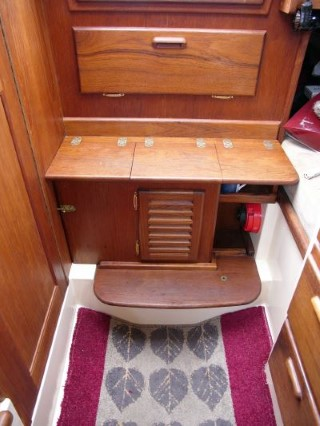 Companionway box to replace standard Flicka steps - Caraway