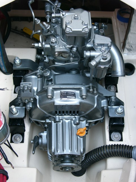 Yanmar 1gm 10 diesel inboard engine overhauled and re-painted.