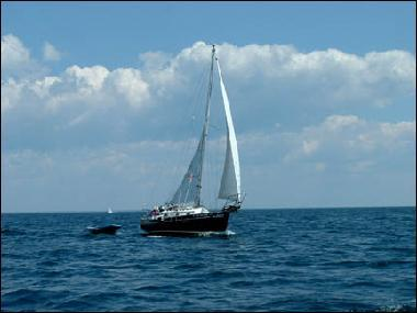 Eventide Sailing  in the North Channel of Lake Huron. copyright Diana Nelson