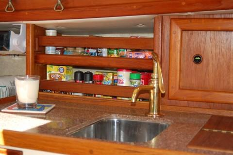 s/v Elise Corian galley top.