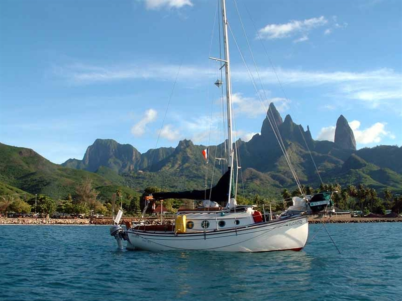 Anchored in Ua Pou, Marquesas