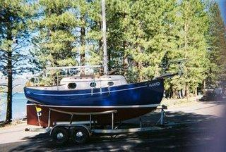 Sally Ann @ a Lake Tahoe launch after an extensive restoration inside & outside.