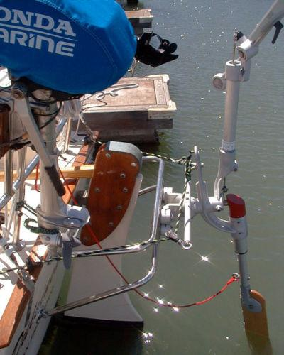 Windpilot Pacific Light windvane self-steering sytem.